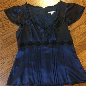 Anthropologie silk blouse by Nanette Lepore